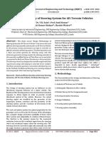 Design Methodology of Steering System for All-Terrain Vehicles