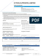 Application for Direct Debit Payment Authorisation Form