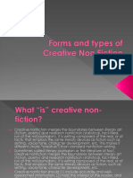 14. Forms and Types of Creative Non Fiction