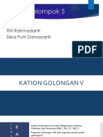 Kation Golongan v Ppt
