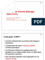 Le Logical Volume Manager (LVM) dans Linux