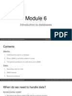 Introduction to Databases