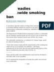 DOH Readies Nationwide Smoking Ban