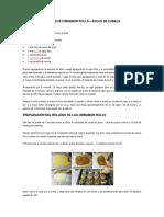 Ingredientes Para Los Cinnamon Rolls