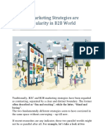How B2C Marketing Strategies Are Gaining Popularity in B2B World