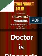 Matrikulasi Anamnesa,Dd 2009