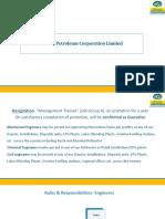 BPCL Engineer Profiles-PPT