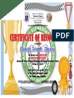 Certificate Sports