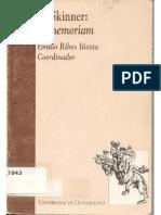INESTA. B.F. Skinner - In Memoriam - Emilio Ribes Iñesta, 1994