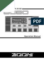 Zoom E_8080 manual