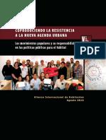 Coproduciendo La Resistencia a La Nueva Agenda Urbana (ES, Agosto 2016)