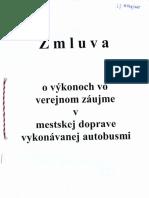 Zmluva Mesto Nitra - Arriva Nitra