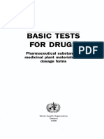 Basic tests for drugs - pharmaceutical substances, medicinal plant materials and dosage forms.pdf