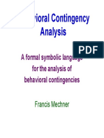 Behavioral Contingency Analysis