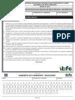 Ibfc Professor de Edu Bas de Mato Grosso Matematica