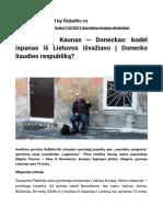 Barcelona-Kaunas-Donetsk. Article published by the news portal Rubaltic.com. (Lithuanian language)