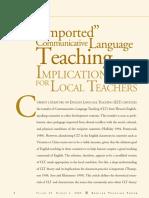 Imported Communicative Language Teaching