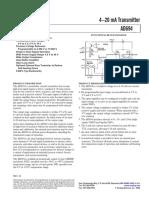 AD694-Circuito Transmisor de 4-20mA, 0-10V
