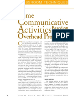Communicative Activities Based on Overhead Projectors