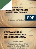Predavanje o Velikim Metalnim Konstrukcijama