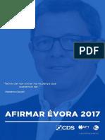 Programa Eleitoral - AFIRMAR ÉVORA 2017