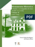 Monumenta Historica. O Ensino e a Companhia de Jesus (séculos XVI a XVIII), Volume II (1581-1700)
