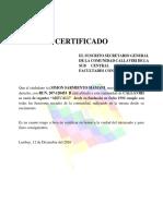 Certificado de Regantes