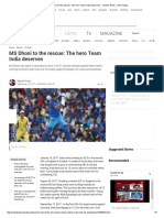 MS Dhoni to the Rescue_ the Hero Team India Deserves _ Cricket, News - India Today
