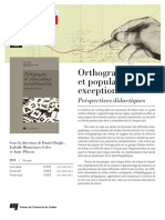 Orthographe Et Population