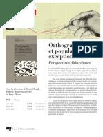 Orthographe Et Population