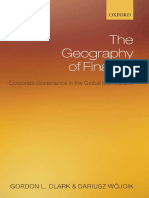 The Geography of Finance 0199213364