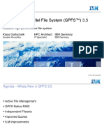 IBM General Parallel File System 3.5 and SoNAS