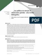 Artigo Politicas Publicas Atenção Adolescentes Gravidas 2013