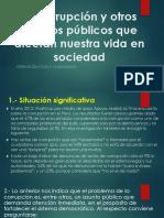 1 La Corrupción y Otros Asuntos Públicos Que Afectan
