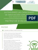 Matrix de Aprendizaje-Laboratorio de Innovación Comunitaria-LIC