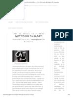 CAT '12_ What to Do and Not to Do on D-Day - GP Ka Funda, MBA Blog for CAT Preparation