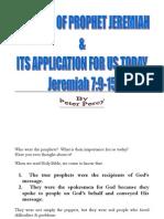 Message of Prophet Jeremiah