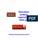 Dhirubhai Ambani Against All Odds PDF