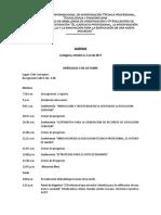 Agenda Simposio de Investigación 2017