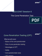 GEO-CHAT Session 6 Cone Penetration Test