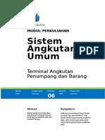 Modul m6 Terminal Angkutan Penumpang Dan Barang Format Umb