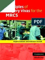 Principles of Surgery Vivas for the MRCS
