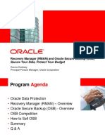 Recovery Manager (RMAN) and Oracle Secure Backup (OSB)