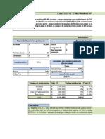 EJERCICIOS EXCEL COSTO PROMEDIO PONDERADO (WACC)