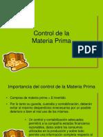 Control de La Materia Prima