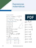 Expresiones Matemáticas