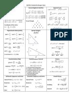 MCR3U Formulas