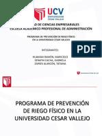 Programa de Prevención de Riego Físico en La Universidad Cesar Vallejo