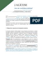 Acuerdo de Confidencialidad Trabajadores y Contratistas