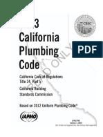 California Plumbing Code
